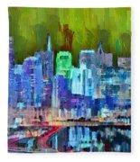 San Francisco Skyline 115 - Pa Fleece Blanket