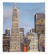 San Francisco Skyline 2 Fleece Blanket