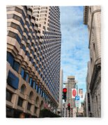 San Francisco Street View - Parc 55  Fleece Blanket