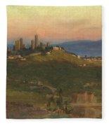 San Gimignano, 1898 Fleece Blanket