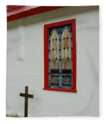 San Iglesia Church Window Fleece Blanket