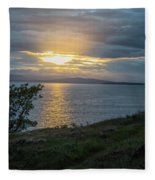 San Juan Island Sunset Fleece Blanket
