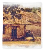 San Juan Mission Residence Fleece Blanket