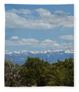 San Juan Mountains Fleece Blanket