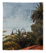 San Luis Obispo Railroad Depot Fleece Blanket