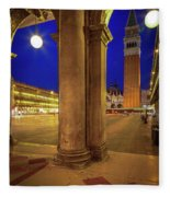 San Marco At Night Fleece Blanket