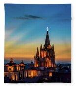 San Miguel Sunset Fleece Blanket