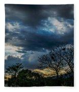 San Salvador Sunset 5 Fleece Blanket