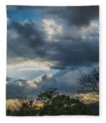 San Salvador Sunset Fleece Blanket