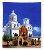 San Xavier Del Bac Mission Fleece Blanket
