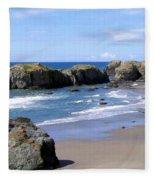 Sand And Sea 11 Fleece Blanket