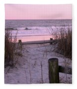 Sand And Sea Fleece Blanket