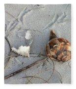 Sand And Shells Fleece Blanket