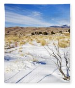 Sand And Snow Fleece Blanket