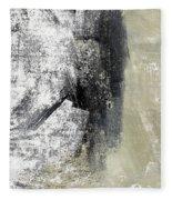 Sand And Steel- Abstract Art Fleece Blanket