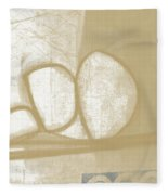 Sand And Stone 1- Contemporary Abstract Art By Linda Woods Fleece Blanket by Linda Woods