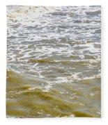 Sand Beach And Wave 4 Fleece Blanket