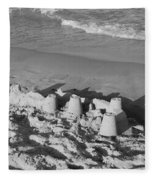 Sand Castles By The Shore Fleece Blanket