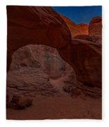 Sand Dune Arch II Fleece Blanket