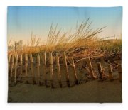 Sand Dune In Late September - Jersey Shore Fleece Blanket