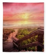 Sand Dune Morning Fleece Blanket