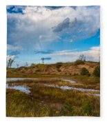 Sand Dunes In Indiana Fleece Blanket