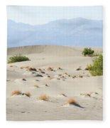Sand Dunes Plants Hills Fleece Blanket