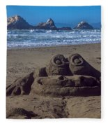 Sand Frog  Fleece Blanket