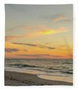 Sand Key Sunset II Fleece Blanket