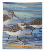 Sand Pipers Fleece Blanket