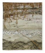 Sand Stone And Reeds Fleece Blanket