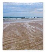 Sand Swirls On The Beach Fleece Blanket