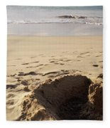 Sandcastle On The Beach, Hapuna Beach Fleece Blanket