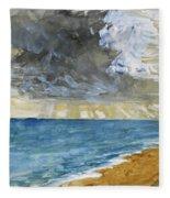Sandgate Beach. Kent  Fleece Blanket