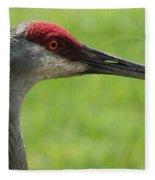 Sandhill Crane Profile Fleece Blanket