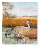 Sandhill Cranes-jp3162 Fleece Blanket