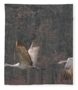 Sandhills In Flight Fleece Blanket