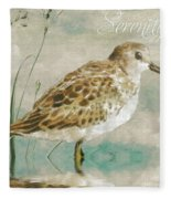 Sandpiper I Fleece Blanket