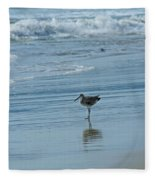 Sandpiper On The Beach Fleece Blanket