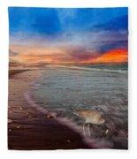 Sandpiper Sunrise Fleece Blanket
