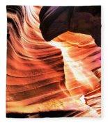 Sandstone And Dust Fleece Blanket