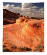 Sandstone Dragon Portrait View Fleece Blanket