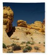 Sandstone Fortress Valley Of Fire Fleece Blanket