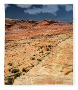 Sandstone Landscape Valley Of Fire Fleece Blanket