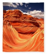 Sandstone Waves And Clouds Fleece Blanket