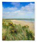 Sandunes At Fethard, Co Wexford, Ireland Fleece Blanket