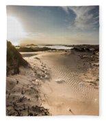 Sandy Beach Haven Fleece Blanket