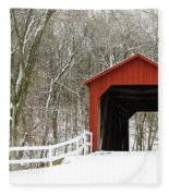 Sandy Creek Covered Bridge Fleece Blanket