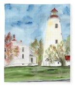Sandy Hook Lighthouse Fleece Blanket