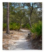 Sandy Path In Hunting Island South Carolina Fleece Blanket